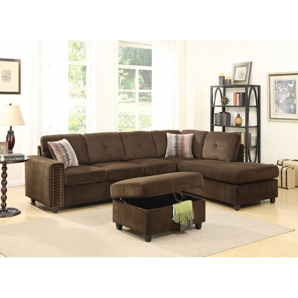 Review Ferebee Right Hand Facing Modular Sectional With Ottoman