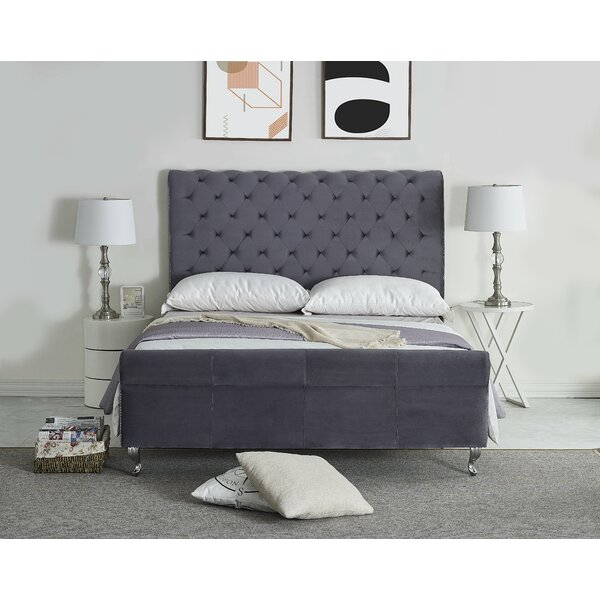Vicente Upholstered Sleigh Bed by Rosdorf Park