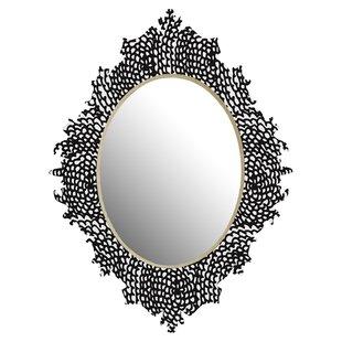 Deny Designs Julia Da Rocha Dahlias Wall Accent Mirror