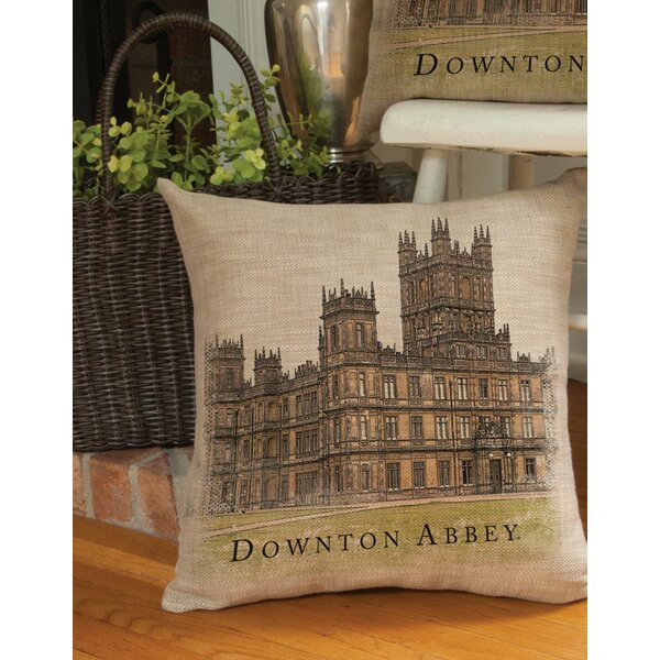 Downtown Abbey British Highclere Castle Decorative Square Throw Pillow by Northlight Seasonal