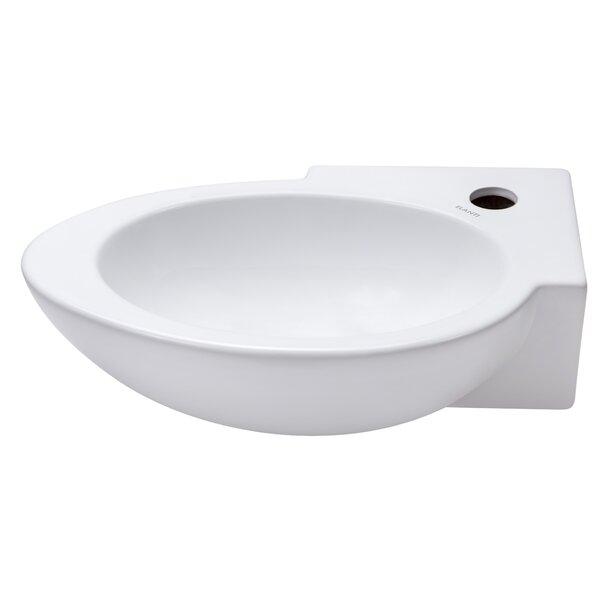 Ceramic 17 Wall Mount Bathroom Sink by Elanti