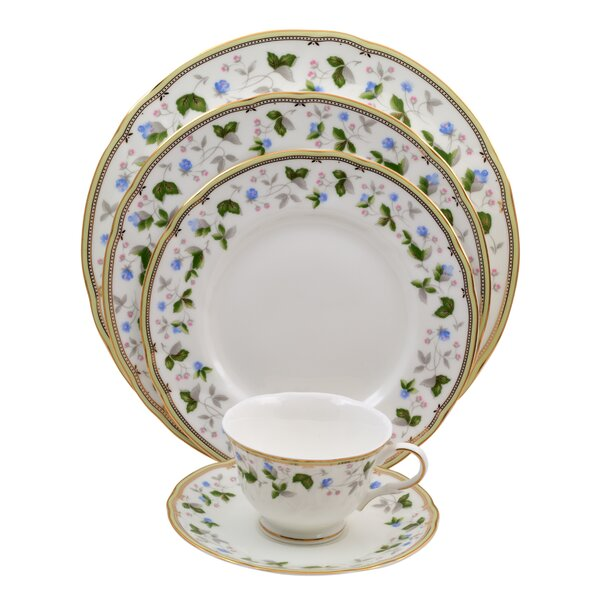 Everglades 5 Piece Bone China Place Setting, Service for 1 (Set of 4) by Shinepukur Ceramics USA, Inc.