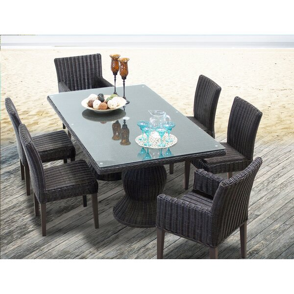 Eldredge 7 Piece Dining Set by Rosecliff Heights
