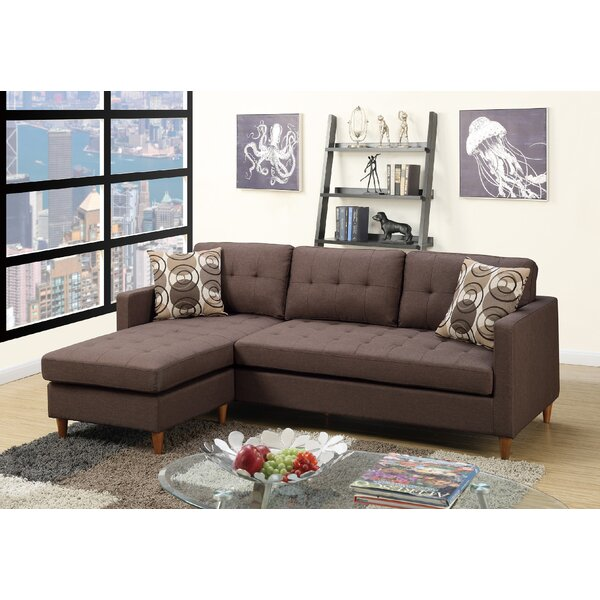 Carmody Reversible Modular Sectional with Ottoman by Wrought Studio