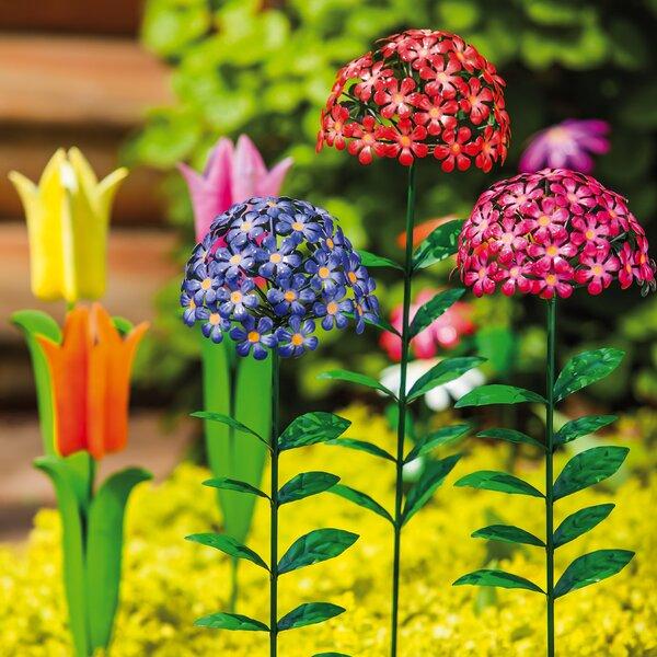 3 Piece Phlox Metal Garden Stake Set by Evergreen Enterprises, Inc