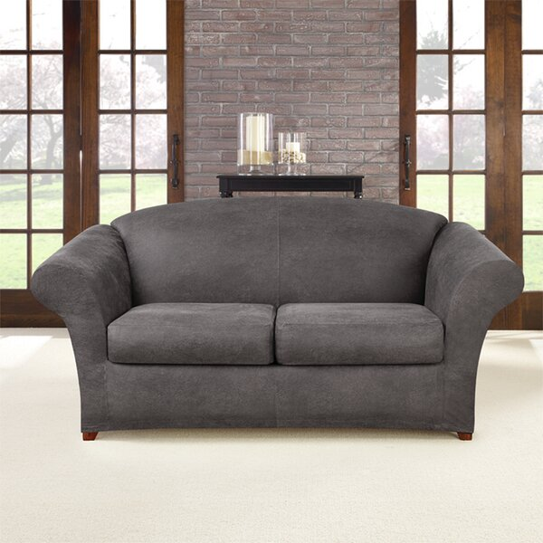 Review Ultimate Stretch Box Cushion Loveseat Slipcover