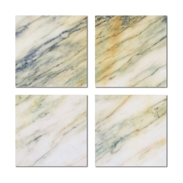 6 x 6 Beveled Glass Field Tile in Yellow/Beige by Upscale Designs by EMA