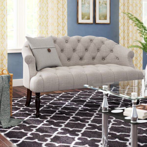Jalissa Chesterfield Settee By Three Posts by Three Posts Bargain