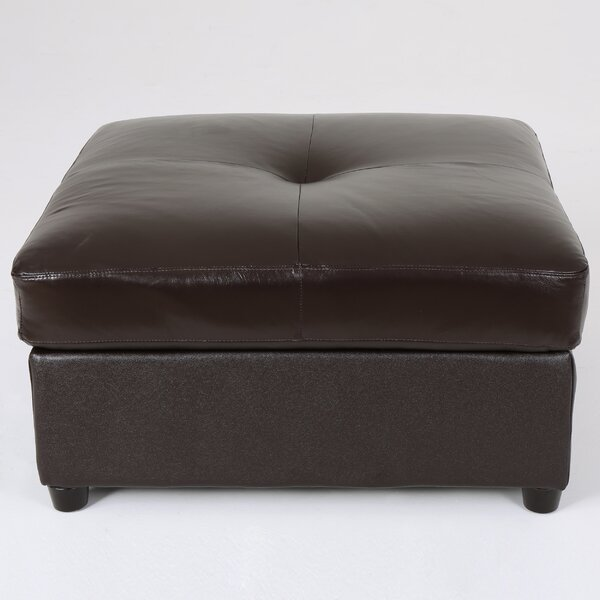 Mccollister Faux Leather Tufted Ottoman by Red Barrel Studio