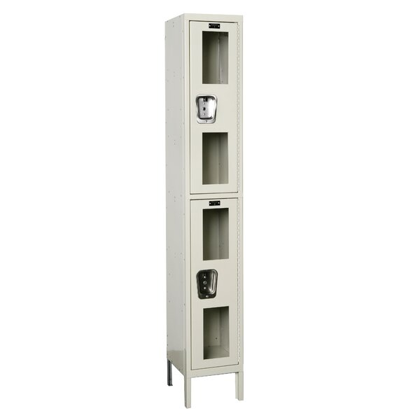 Safety View 2 Tier 1 Wide Safety Locker by Hallowell