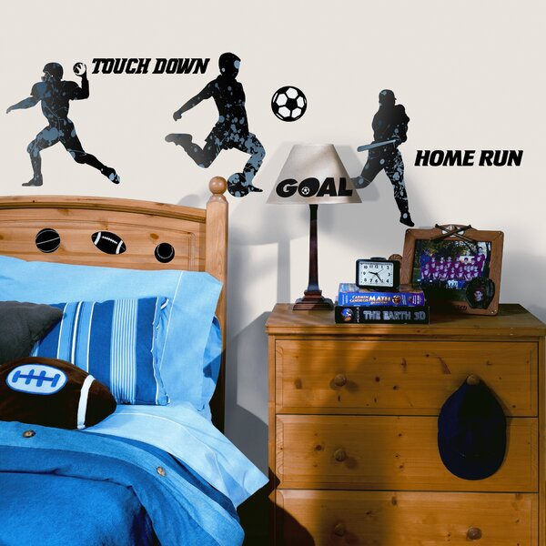 Studio Designs 23 Piece Sports Silhouettes Wall Decal by Room Mates