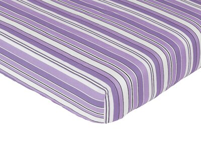 Kaylee Striped Fitted Crib Sheet by Sweet Jojo Designs
