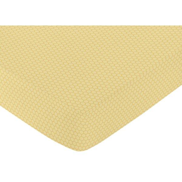 Honey Bee Honeycomb Fitted Crib Sheet by Sweet Jojo Designs