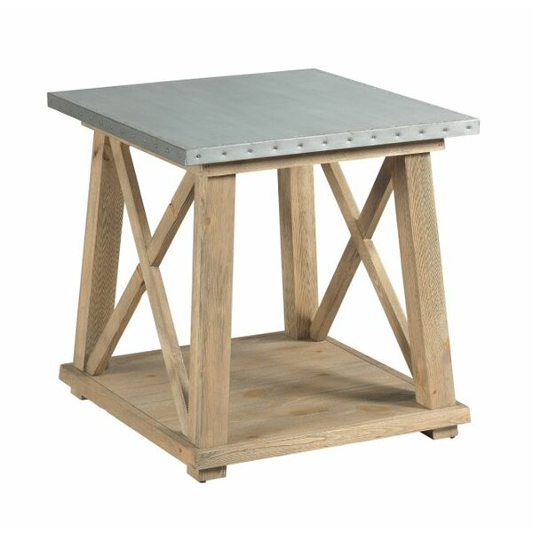 Poppy Truss End Table by 17 Stories
