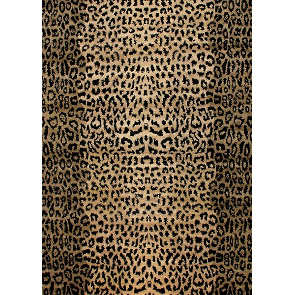 Modern Wilderness Black/Light Gold Area Rug by Exquisite Rugs