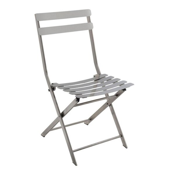 Arison Metal Ladder Back Side Chair In Gray (Set Of 2) By Ebern Designs