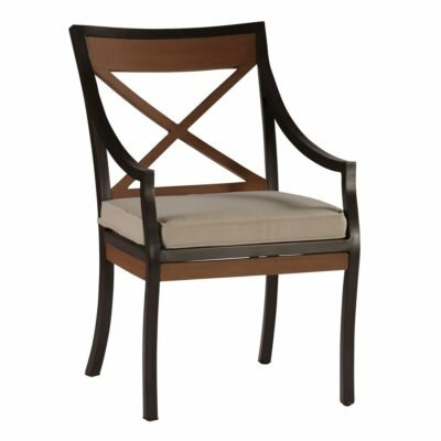 Belize Patio Dining Arm Chair with Cushion by Summer Classics