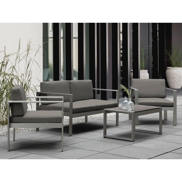 Ingerson 4 Piece Sofa Seating Group with Cushions (Set of 4) by Brayden Studio