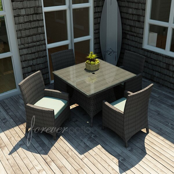 Hampton 5 Piece Dining Set with Sunbrella Cushions by Forever Patio