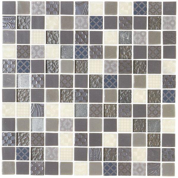 Lexington 12 x 12 Glass Mosaic Tile in Metro Gray by Itona Tile