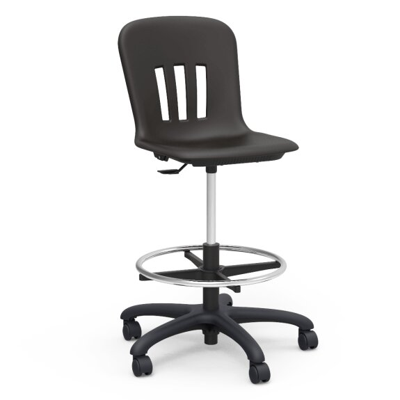 Metaphor Height Adjustable Lab Stool with Casters by Virco