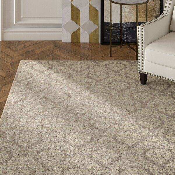 Hartz Silver Ivory Area Rug By House Of Hampton.