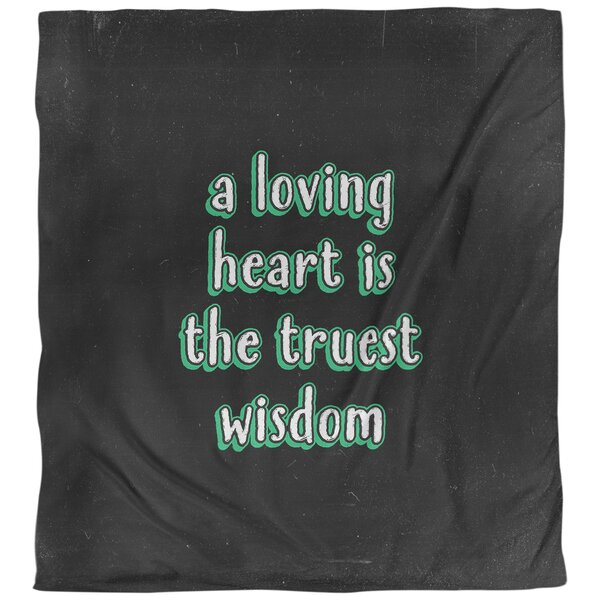 Love & Wisdom Quote Single Duvet Cover