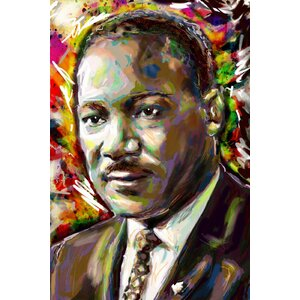 'Martin Luther King' by Pat Spark Graphic Art Print on Wrapped Canvas by East Urban Home