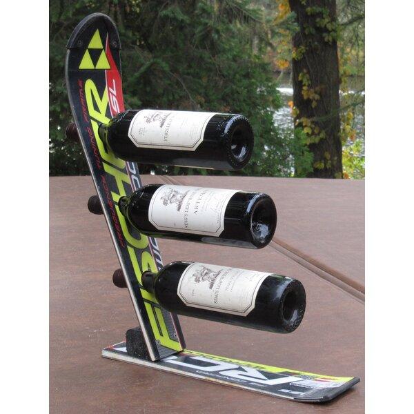 Snow 3 Bottle Tabletop Wine Bottle Rack by Ski Chair Ski Chair