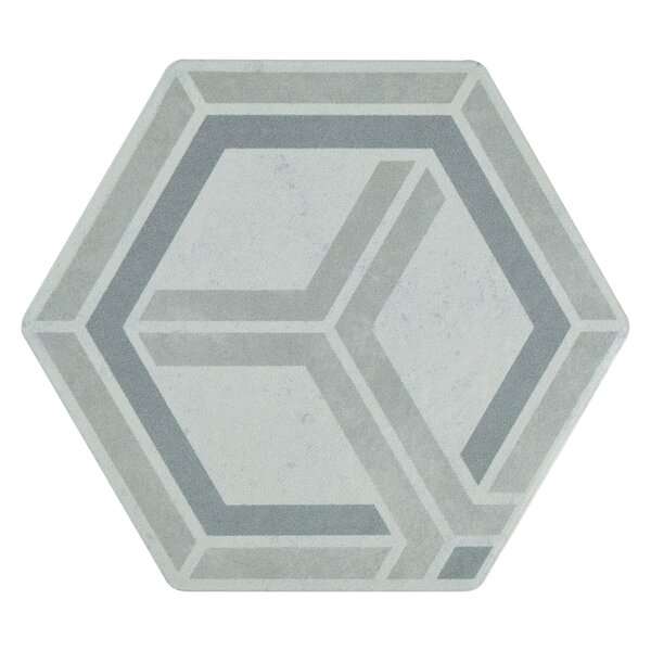 Hara Hex 6 x 7 Porcelain Stone Look Wall & Floor Tile