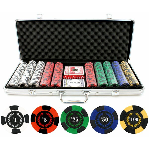 500 Piece Roman Times True Clay Poker Chip by JP Commerce