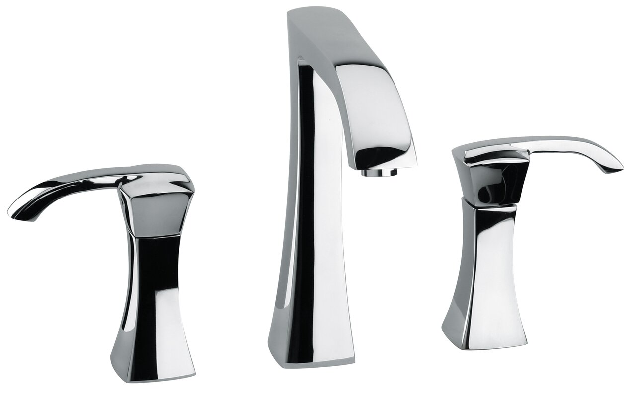 LaToscana Lady Deck Mount Widespread Lavatory Faucet with Drain ...