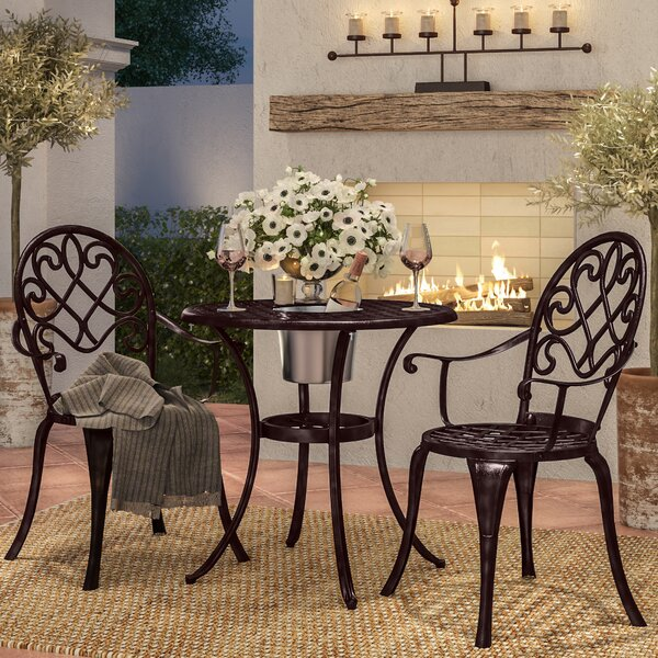 Chestnut Street 3 Piece Bistro Set By Alcott Hill