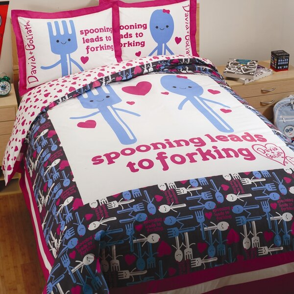 Spooning Reversible Duvet Cover Set by David & Goliath