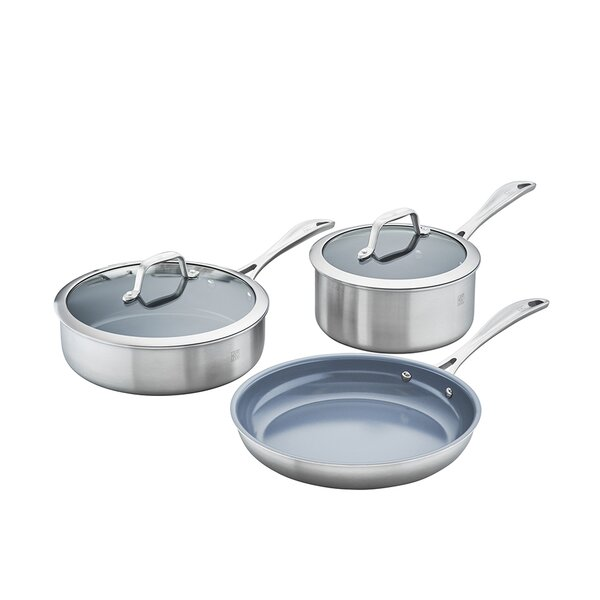 Spirit 5 Piece Non-Stick Stainless Steel Cookware Set by Zwilling JA Henckels