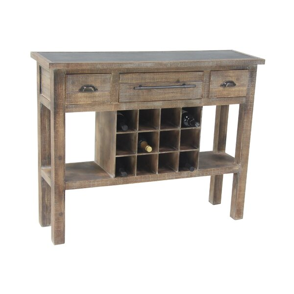 Barbery Rustic 12-Bottle Wine Console Table by Loon Peak