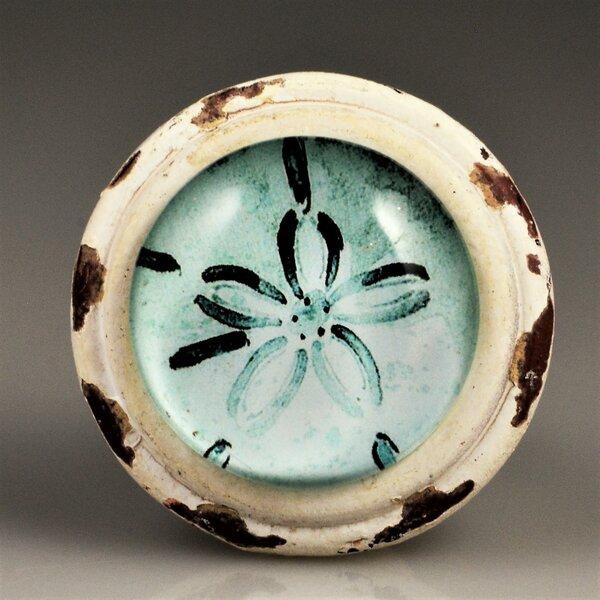 Handpainted Sanddollar Mushroom Knob (Set of 4) by Charleston Knob Company