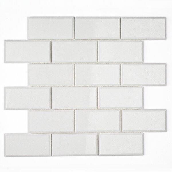 Brick Joint 2 x 4 Beveled Marble Mosaic Tile in White Thassos by Splashback Tile