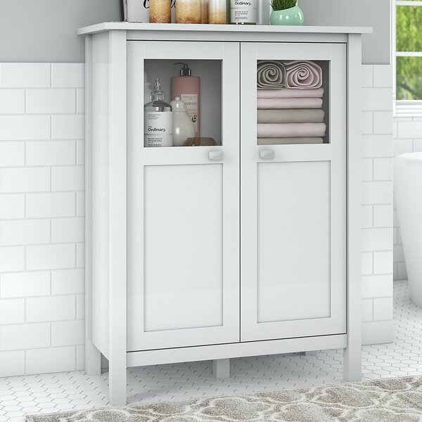 Perreira 31.73 W x 41.5 H x 15.75 D Free Standing Bathroom Cabinet