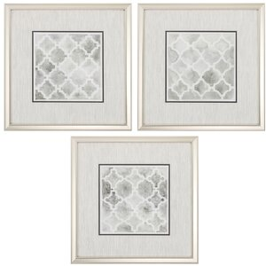 Neutral Impressions 3 Piece Framed Graphic Art Set by Propac Images
