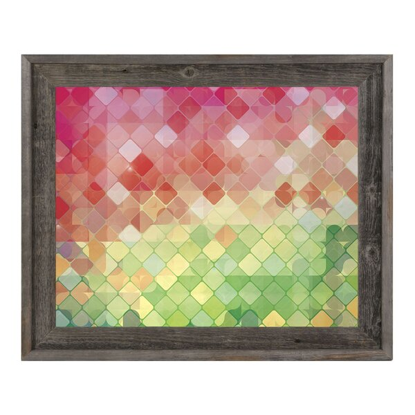 Holiday Checkered Diamonds Framed Graphic Art on Canvas by Click Wall Art