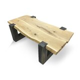 Bianca Solid Wood Frame Coffee Table by Loon Peak®