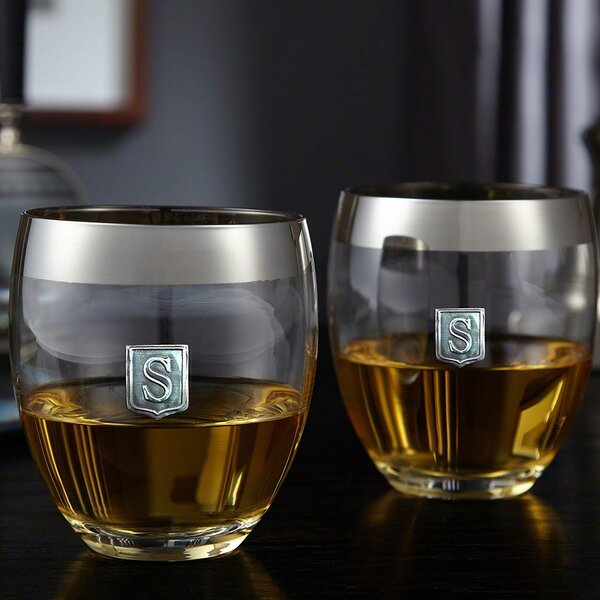 Yamashita Crested Simply Class Whiskey 14 oz. Glass Cocktail Glass (Set of 2) by Alcott Hill