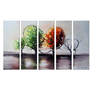 Branch Out for Love Landscape Painting 5 Piece Painting on Canvas Set