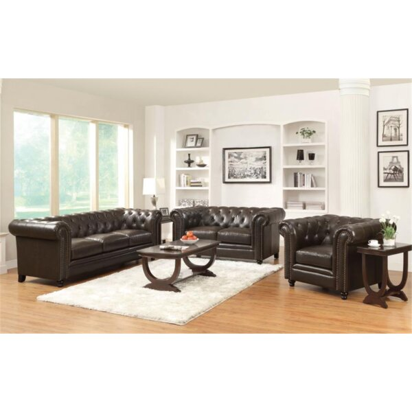 Review Orford 3 Piece Living Room Set