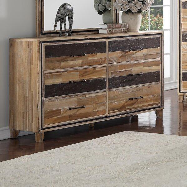 Hiro 6 Drawers Double Dresser by Loon Peak