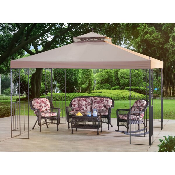Parlay 10 Ft. W x 12 Ft. D Steel Patio Gazebo by Sunjoy