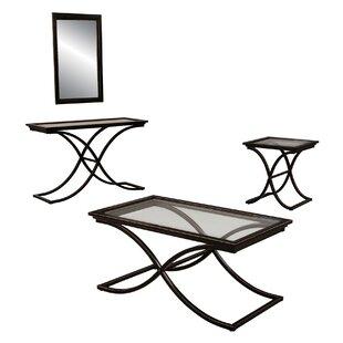 Hamden Coffee Table Set with Mirror Three Posts