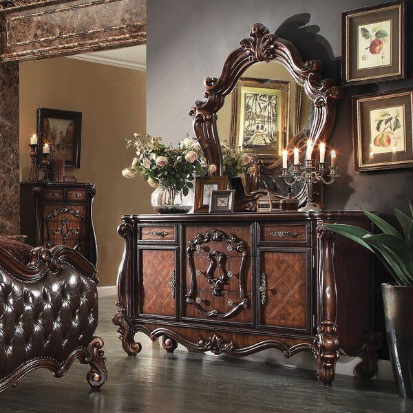 Welton 5 Drawer Combo Dresser with Mirror by Astoria Grand