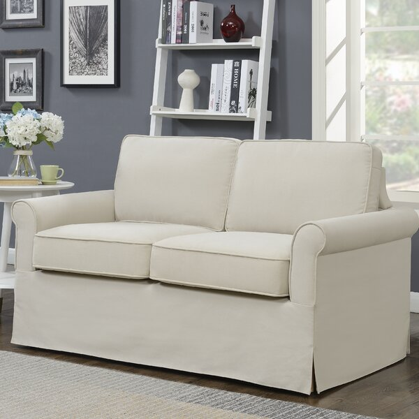 Torquay Modern Arm Slipcover Sofa by Three Posts